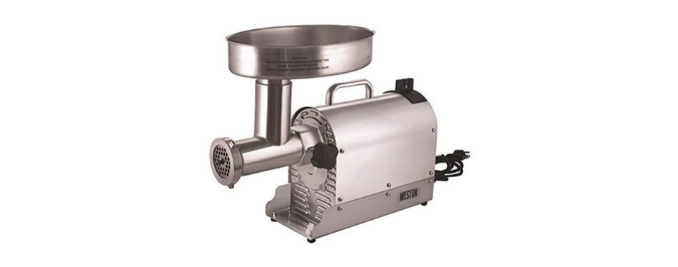 weston (10-3201-w) pro series electric meat grinder