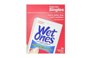 wet ones antibacterial hand and face wipes