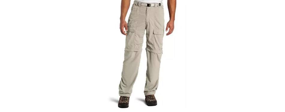 white sierra trail 32-inch inseam convertible pants