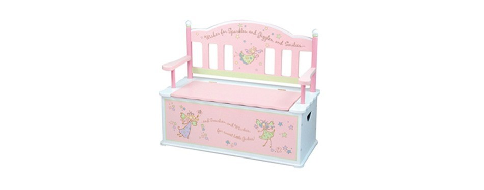 Pink Fairy Wishes Bench Seat With Storage Toy Box Seating: 11 Best Toy Boxes In 2019 [Buying Guide]