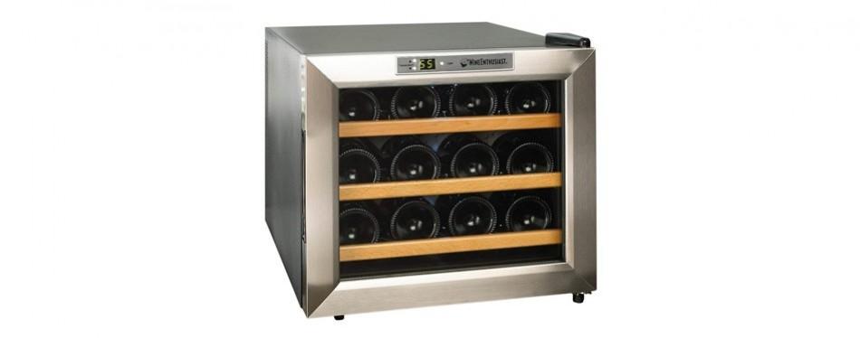 wine enthusiast 12-bottle wine cooler