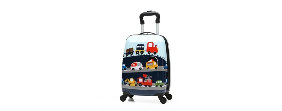 winsday kids carry on luggage upright hard shell travel trolley