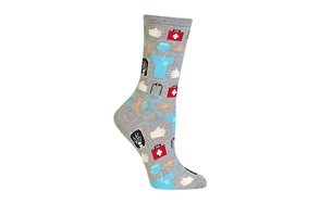 women's novelty casual crew socks
