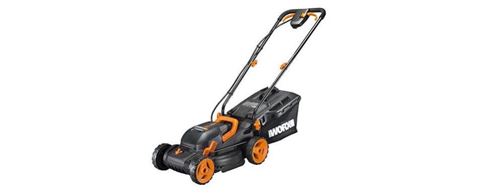 worx 14-inch 40 volt cordless lawn mower