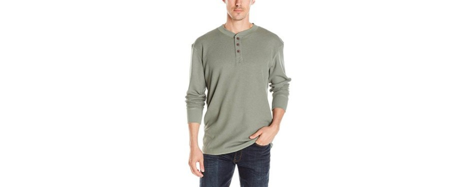 wrangler authentic big & tall long sleeve waffle henley