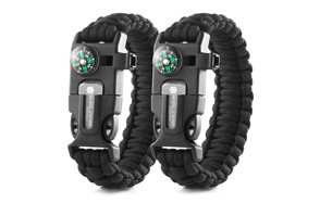 x-plore gear double emergency paracord bracelet set