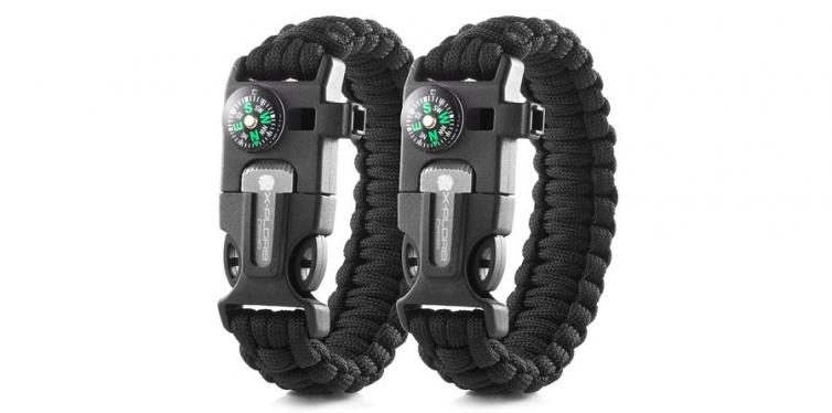 X-Plore Gear Double Emergency Paracord Bracelet Set