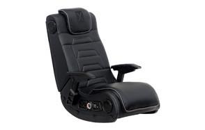 x rocker pro series h3 black leather vibrating gaming chair