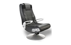 x rocker se 2.1 black leather video kids gaming chair