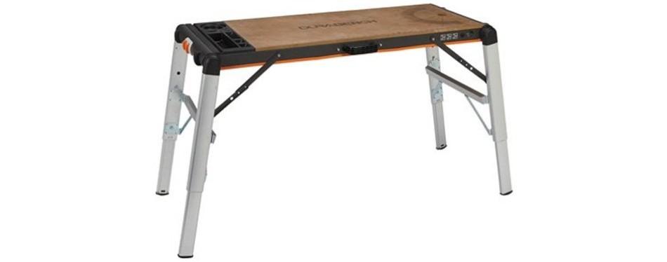 x-tra hand 2-in-1 portable workbench/platform, 500-lb. capacity