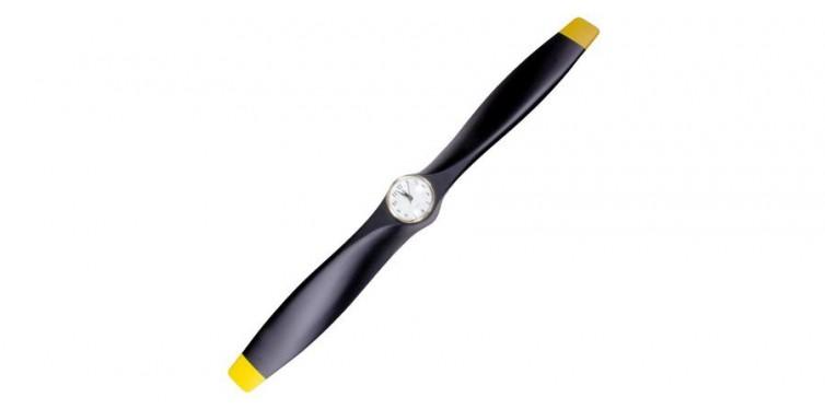 xoar wood airplane propeller clock