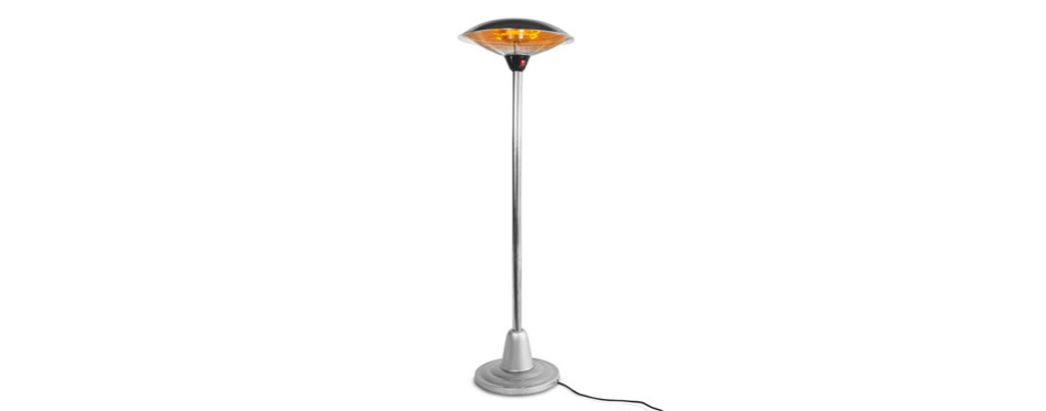 xtremepowerus electric 1500 watt outdoor patio infrared heaterwith stand