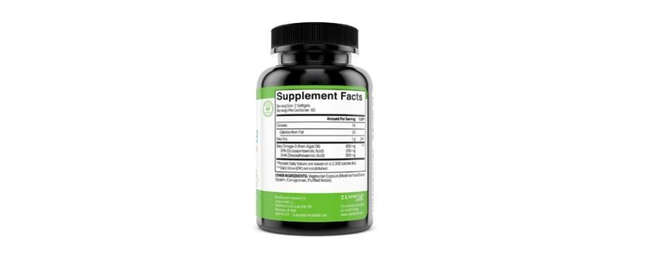 zenwise health vegan omega-3 supplement