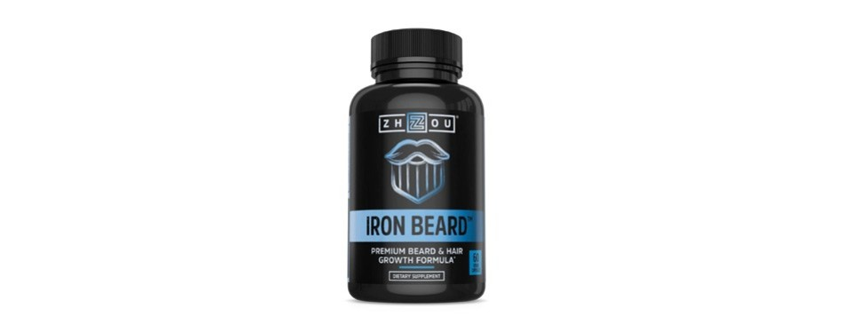 zhou nutrition iron beard vitamin supplement for men