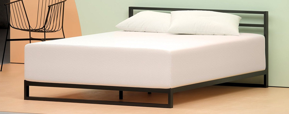 "zinus memory foam 12"" green tea mattress"