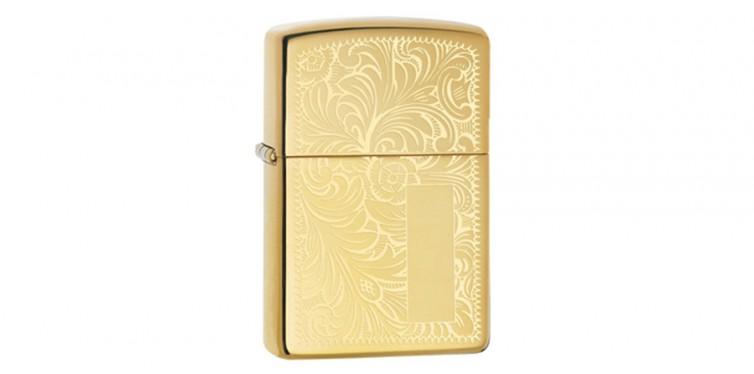 Zippo Lighter Venetian High Polish Brass