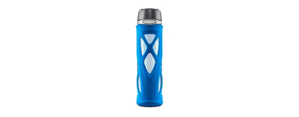 zulu atlas glass water bottle with flip lid