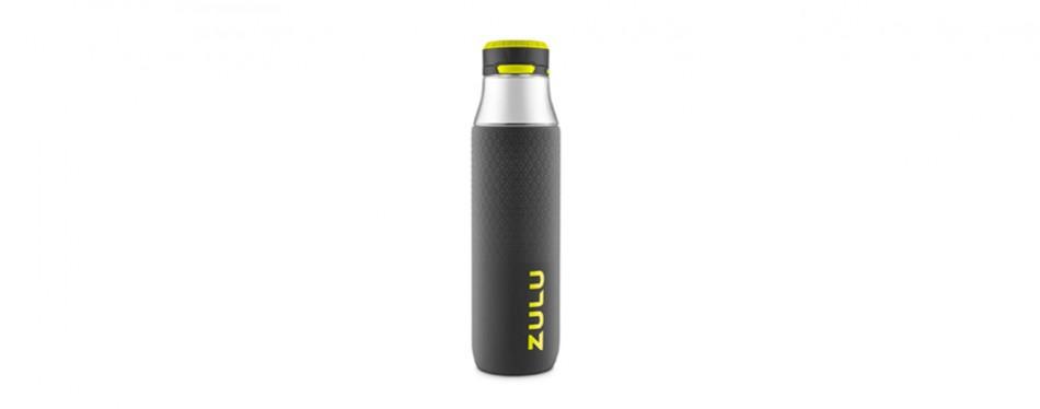 zulu studio glass water bottle