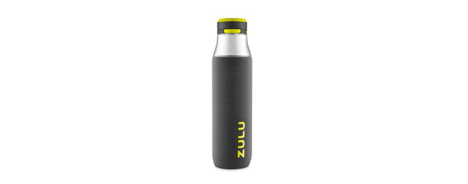 zulu studio glass water bottle